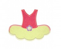Ballet Tutu Red Applique 5x7