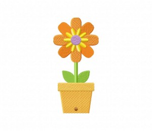 Bright Orange Spring Flower 5_5 inch