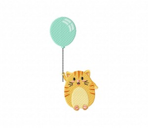 Chubby Calico With Balloon -5_5