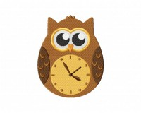 Clock Owl Stitched 5_5
