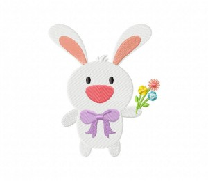 Easter Bunny Flowers  5_5 inch