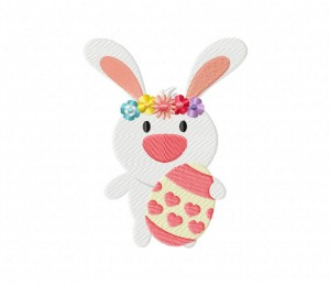 Easter Bunny Heart  5_5 inch