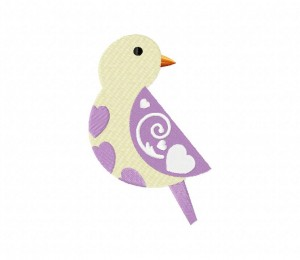 Folk Bird Purple Wing Stitched 5_5