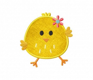 Happy-Easter-Chick-Flower-Applique5x7