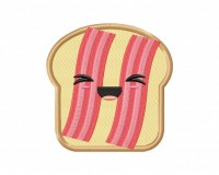 Kawaii Bacon Toast 5_5 inch