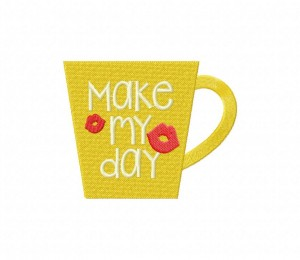 Make My Day Mug Stitched 5