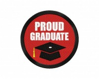 Proud Graduate Button  5_5 inch