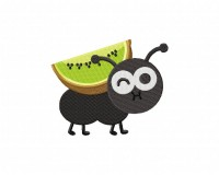 Cute Little Ant With Kiwi Stitched 5