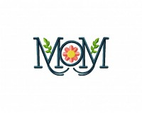 Mom Monogram Flowers (Z)-5