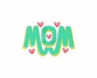 Mom Monogram Hearts (Z)-5