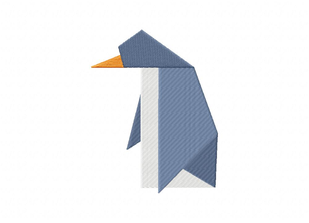 Origami penguin includes both applique and stitched - Applique origami ...