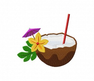 Relaxing Coconut Drink  5_5 inch