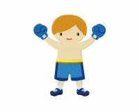 Boxing Kid Blue  5_5 inch
