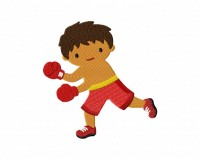 Boxing Kid Red  5_5 inch