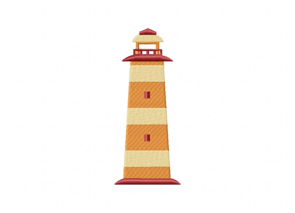 Maroon Lighthouse  5_5 inch