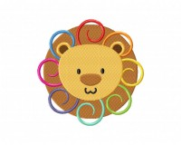 Rainbow Lion Curls Stitched 5_5