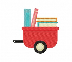 Wagon And 4 Books 5_5 inch