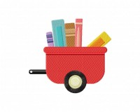 Wagon And 5 Books  5_5 inch