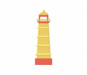 Yellow Lighthouse  5_5 inch