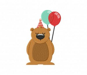 Birthday Bear Balloons 5_5 inch