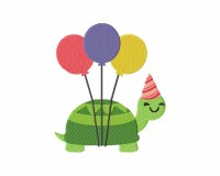 Birthday Turtle Balloons 5_5 inch