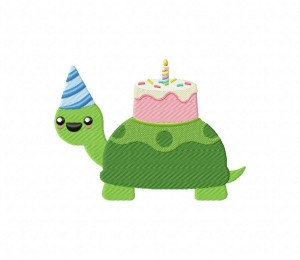 Birthday Turtle Cake 5_5 inch