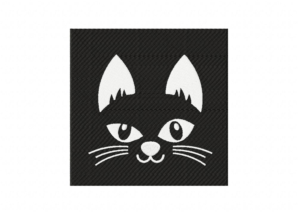 Black Cat In The Night Face 5_5 inch