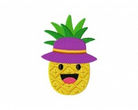 Cool Pineapple With Hat 5_5 inch