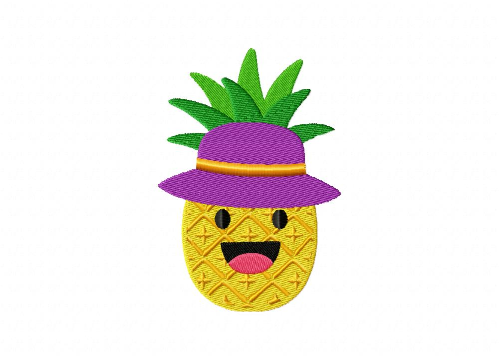 Cool Pineapple With Hat Machine Embroidery Design U2013 Daily ...