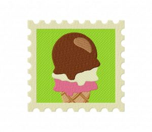 Summer Stamp Icecream  5_5 inch