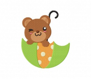 Umbrella Bear Fun 5_5 inch