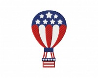 4th of July Balloon Stitched  5_5 inch