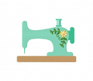 Beautiful Sewing Machine  5_5 inch