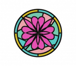Charming Stained Glass Flower 5_5 Inch