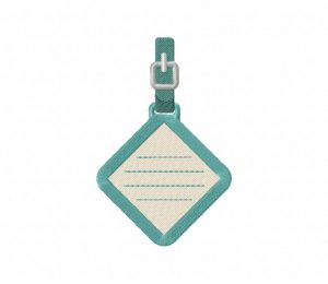 Diamond Luggage Tag  5_5 inch