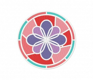 Elegant Stained Glass Flower  5_5 inch
