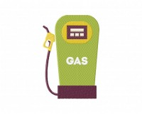Green Retro Gas Pump  5_5 inch