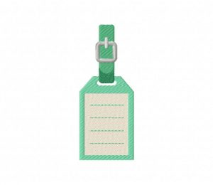 Luggage Tag Rectangle  5_5 inch