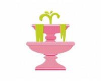 Pink Water Fountain  5_5 inch