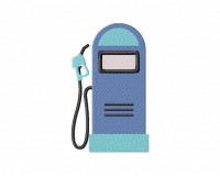 Retro Gas Pump Blue  5_5 inch