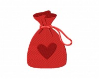 String Bag Heart  5_5 inch