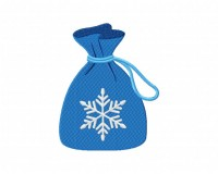 String Bag Snowflake  5_5 inch