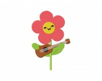 Summer Flower Guitar 5_5 inch