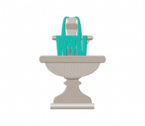 Water Fountain Gray  5_5 inch