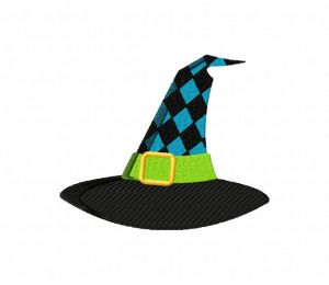 Black And Blue Witch Hat 5_5 inch