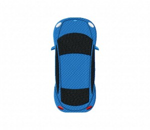 Cars Top View Blue  5_5 inch