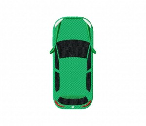 Cars Top View Green 5_5 inch