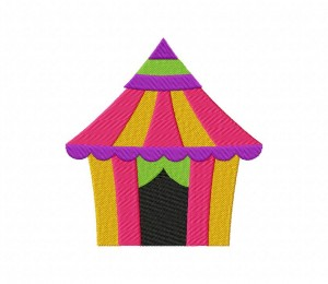 Colorful Circus Tent 5_5 inch