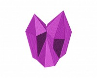Crystal Gems Purple Stitched 5_5 Inch