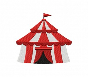 Red Circus Tent 5_5 inch